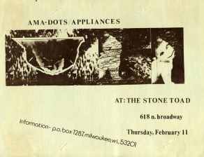 Ama Dots / Appliances poster from the 1980s.